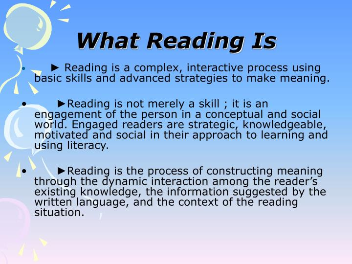 What Reading Is