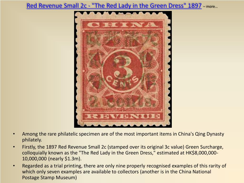 """Red Revenue Small 2c - """"The Red Lady in the Green Dress"""""""