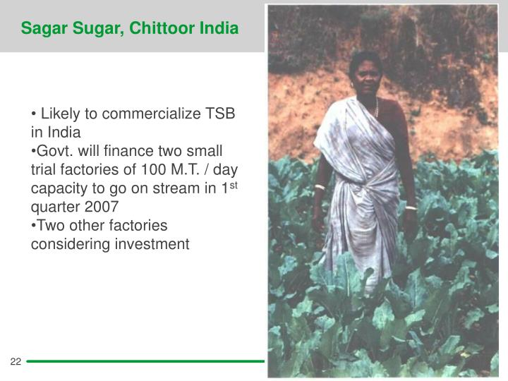 Sagar Sugar, Chittoor India