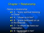 chapter 1 relationship