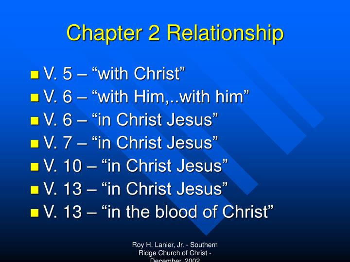 Chapter 2 Relationship