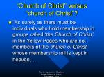 church of christ versus church of christ