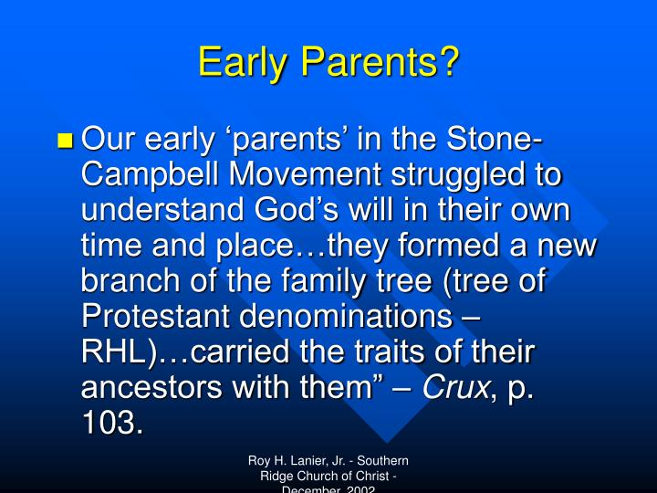 Early Parents?