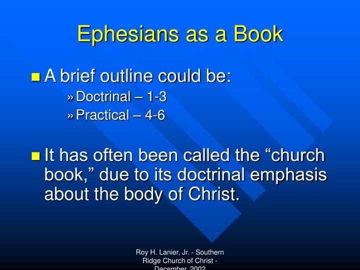 Ephesians as a Book