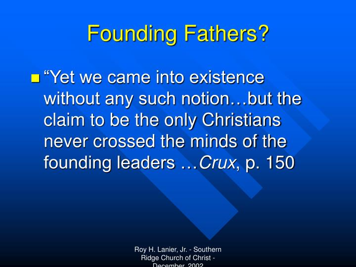 Founding Fathers?