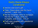 god s grace always conditional1