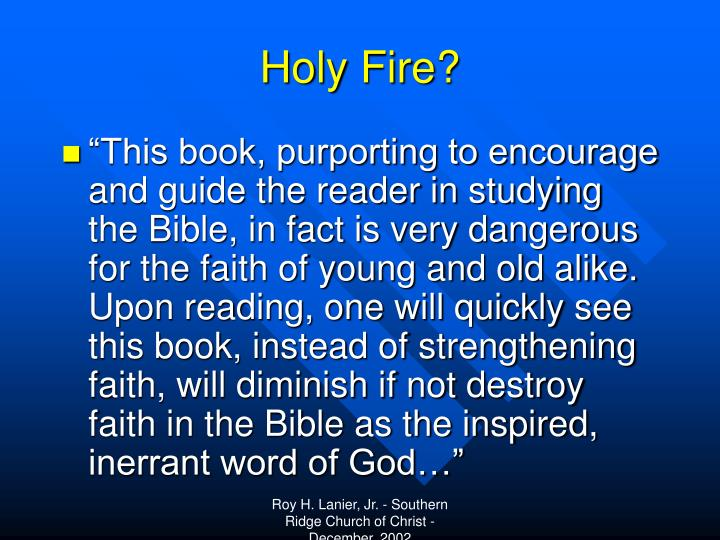 Holy Fire?