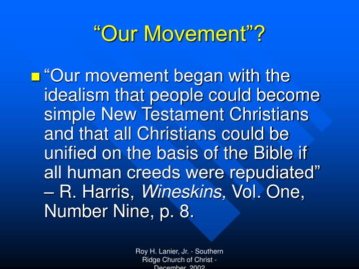 """""""Our Movement""""?"""