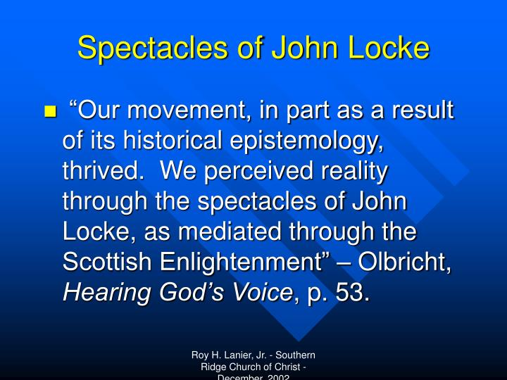 Spectacles of John Locke
