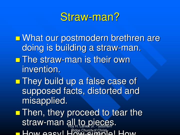 Straw-man?