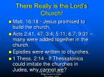 there really is the lord s church