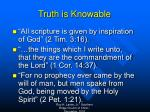 truth is knowable1