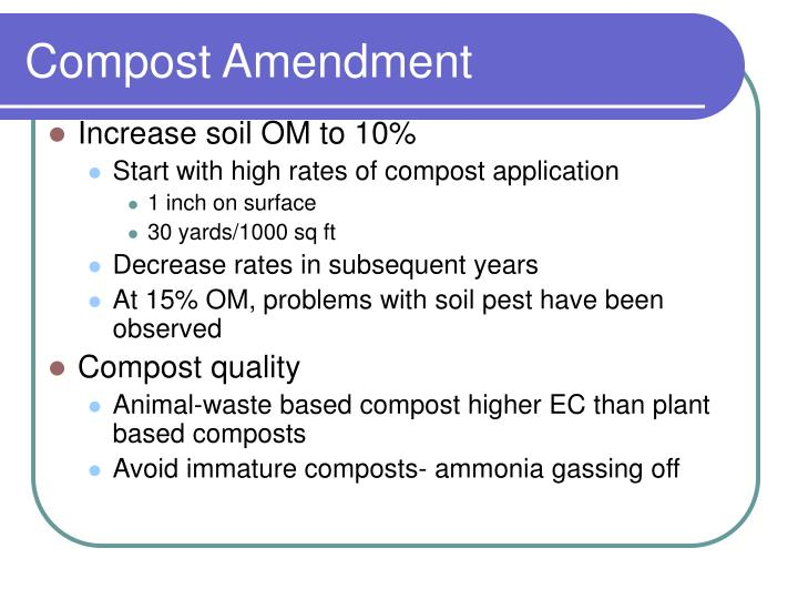 Compost Amendment