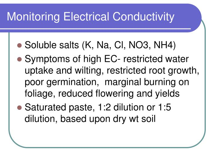 Monitoring Electrical Conductivity