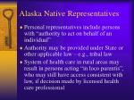 alaska native representatives