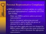 personal representative compliance