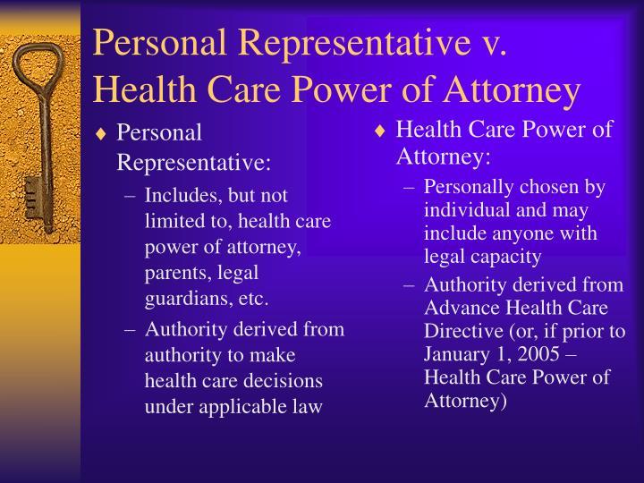 Personal Representative: