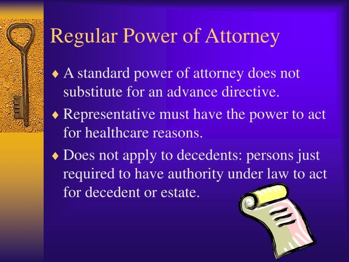 Regular Power of Attorney
