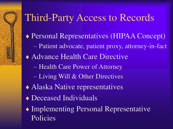 Third-Party Access to Records