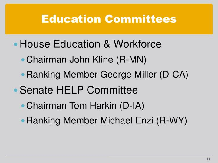 Education Committees