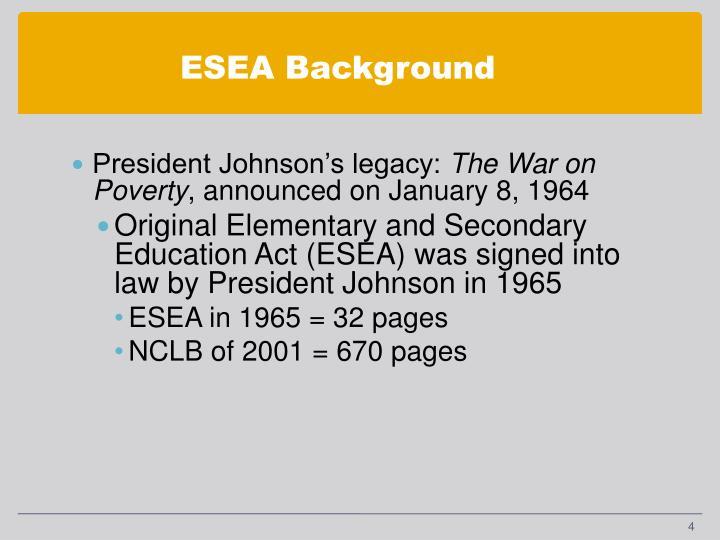 ESEA Background