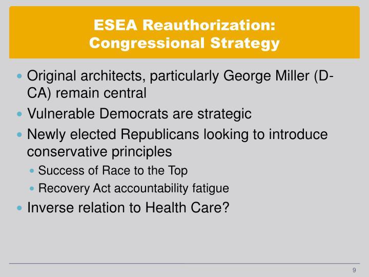ESEA Reauthorization: