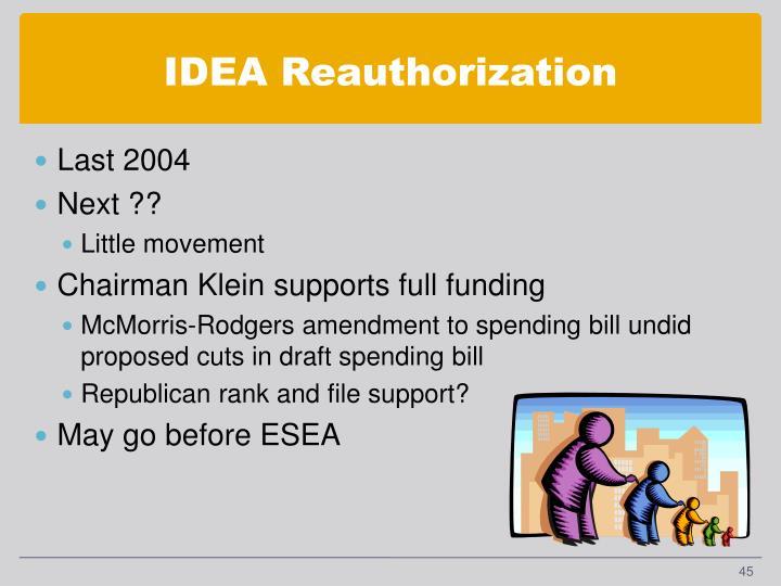 IDEA Reauthorization