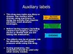 auxiliary labels