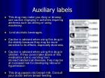 auxiliary labels1