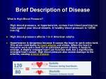 brief description of disease