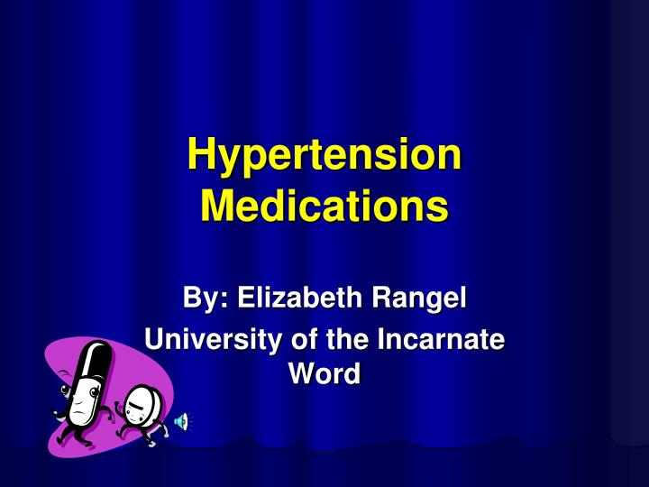 Hypertension medications