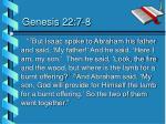 genesis 22 7 8