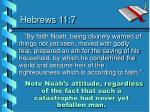 hebrews 11 7