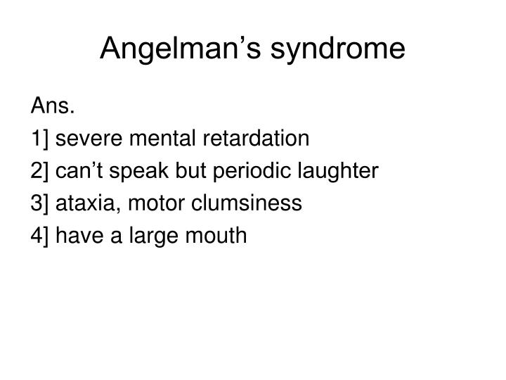 Angelman's syndrome