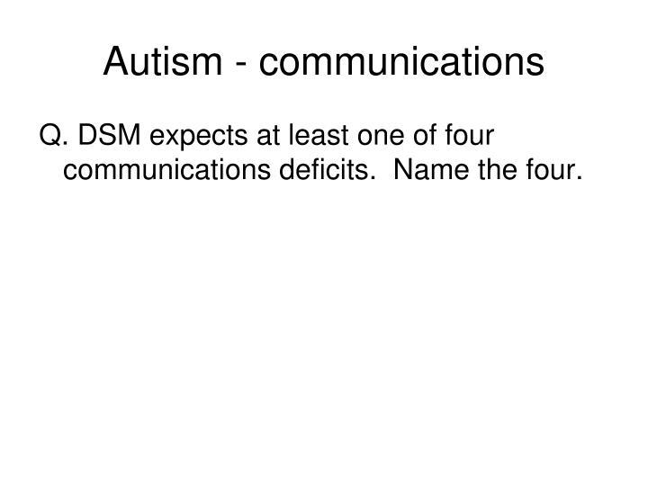 Autism - communications