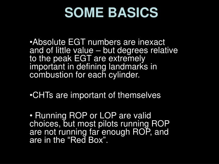 Absolute EGT numbers are inexact and of little value – but degrees relative to the peak EGT are extremely important in defining landmarks in combustion for each cylinder.