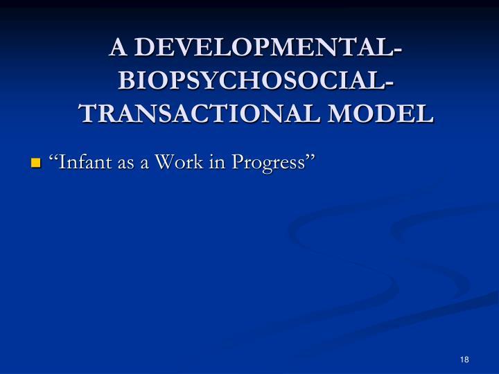 A DEVELOPMENTAL-BIOPSYCHOSOCIAL-TRANSACTIONAL MODEL