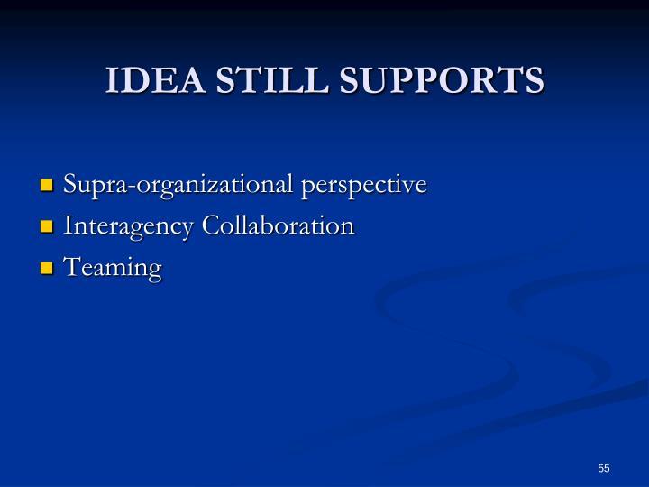 IDEA STILL SUPPORTS