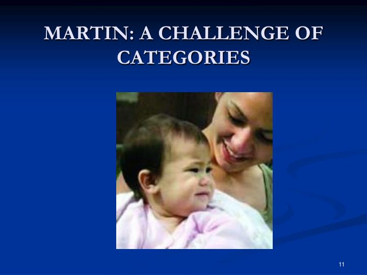 MARTIN: A CHALLENGE OF CATEGORIES