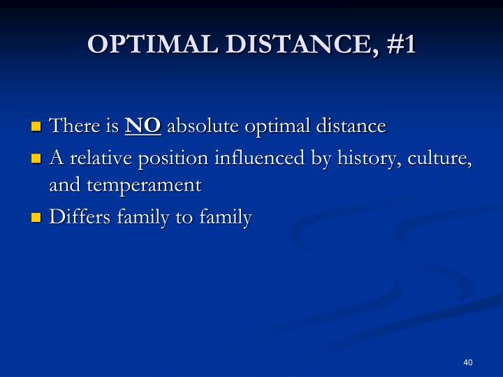 OPTIMAL DISTANCE, #1