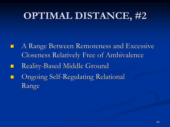 OPTIMAL DISTANCE, #2
