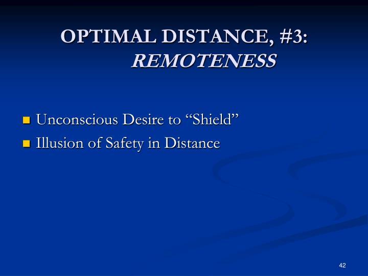 OPTIMAL DISTANCE, #3: