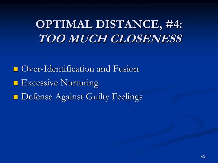 OPTIMAL DISTANCE, #4: