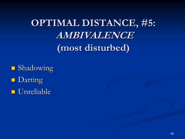 OPTIMAL DISTANCE, #5: