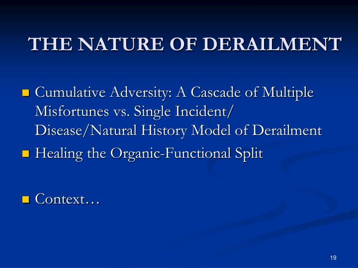 THE NATURE OF DERAILMENT