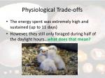 physiological trade offs13