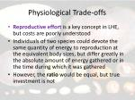 physiological trade offs15