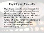 physiological trade offs4