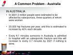 a common problem australia
