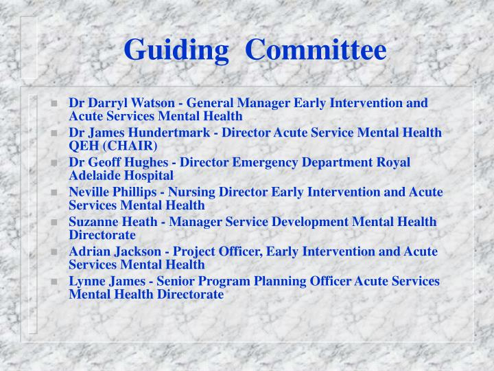 Guiding  Committee